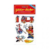 Feuerwehr Glitter Sticker