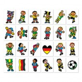 """Tattoo-Set """"Fußball"""" - 24 verschiedene Motive von Lutz Mauder"""