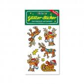 Rentiere Glitter Sticker