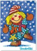 Fensterbild + Postkarte Schnee-Lotte