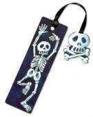 Glitzer-Lesezeichen Skelett