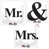 "Folienballon-Set ""Mr. & Mrs."""