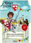 20 Einladungskarten Ritter Trenk