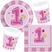 37-teiliges Spar-Set: 1. Geburtstag Mädchen