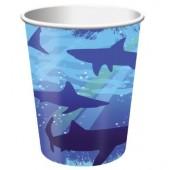 8 Becher Haifisch
