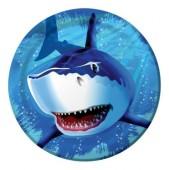 8 Teller Haifisch