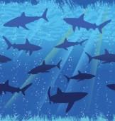 Tischdecke Haifisch