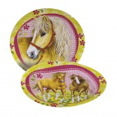 8 Teller Ponys und Pferde II