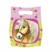 6 Partytüten Ponys und Pferde II