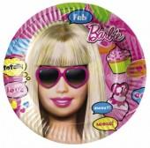 8 große Teller Barbie