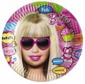 8 kleine Teller Barbie