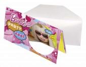 6 Einladungskarten + Umschläge Barbie