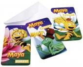 6 Einladungen Biene Maya