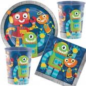33-teiliges Spar-Set: Lustige Roboter