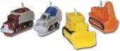 4 Mini-Figurenkerzen Baustelle