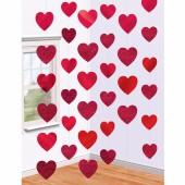 6-teiliges Deko Hänge Set Herzen