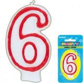Zahlenkerze #6