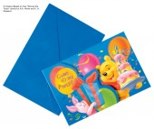 6 Einladungskarten Winnie the Pooh