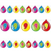 Wimpelkette #9 im Luftballon-Design