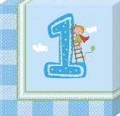 20 Servietten 1. Geburtstag - Junge