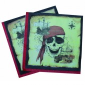 20 Servietten Piraten / Totenkopf