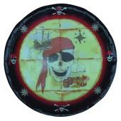 6 Teller Piraten / Totenkopf