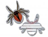 6 Einladungskarten Spinne für Halloween Party