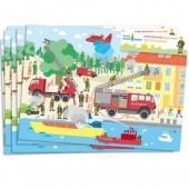 6 Platzsets Feuerwehr