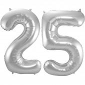 2 Folienballons Silberhochzeit