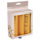 3 x goldene Luftschlangen