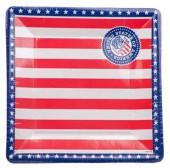 8 Teller Amerika - viereckig