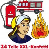XXL Konfetti Feuerwehr als Tischdeko