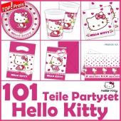101-teiliges HELLO KITTY Kindergeburtstag-Set