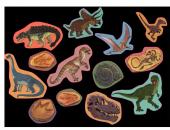 XXL Konfetti Dinos und T-Rex