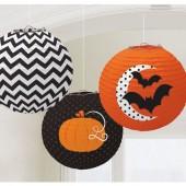 3 Lampions / Zuglaternen Halloween
