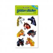 Pferdeköpfe Glitter Sticker