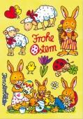 Fensterbild + Postkarte Frohe Ostern