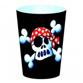 8 Piraten-Becher Jolly Roger