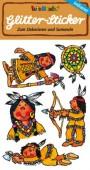 Indianer Glitter Sticker