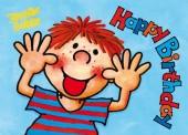 Fensterbild + Postkarte Frecher Fritz Happy Birthday