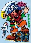 Fensterbild + Postkarte Pirat