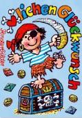Fensterbild + Postkarte Piratengeburtstag