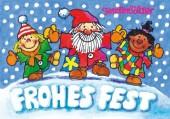 Fensterbild + Postkarte Nikolaus-Kinder