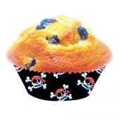 40 Muffin-Förmchen Piraten Jolly Roger