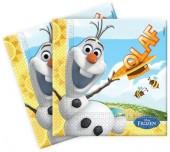 16 Servietten Frozen: Olaf - Der Schneemann