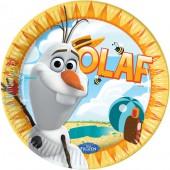 8 Teller Frozen: Olaf - Der Schneemann