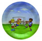 6 Teller Fussball / Fussballjungs